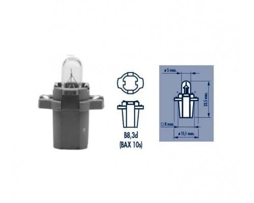 Лампа розжарювання 24V 1.2W BAX10S B8,3D GREY