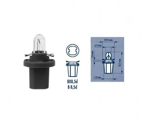 Лампа розжарювання 24V 1.2W BAX10D B8,5D GREY