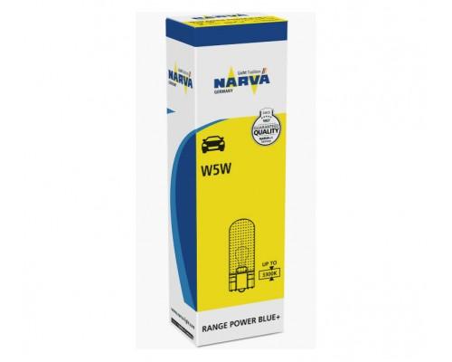 Лампа розжарювання 12V W5W 5W W2,1X9,5D W2,1X9,5D POWER BLUE