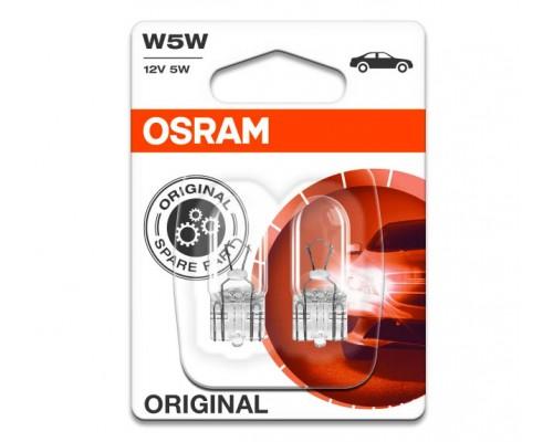 Лампа розжарювання 12V W5W 5W W2,1X9,5D ORIGINAL LINE, БЛИСТЕР (2ШТ)