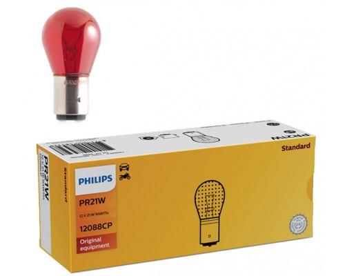 Лампа розжарювання 12V PR21W 21W BAW15S, червона