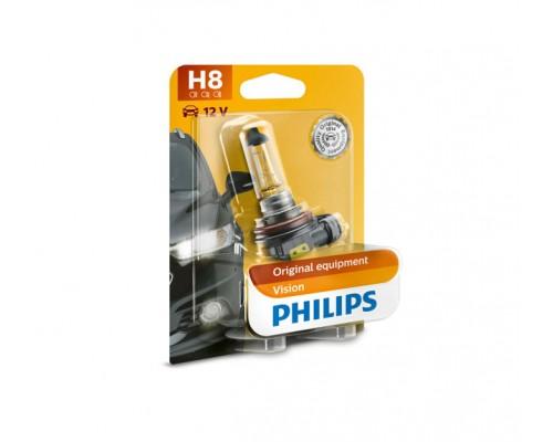 Лампа галогенна 12V H8 35W PGJ19-1 (1ШТ В БЛИСТ.)