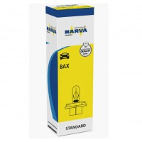 ЛАМПА НАКАЛИВАНИЯ 12V BAX 2W BX8,4D LIGHT GREEN 1