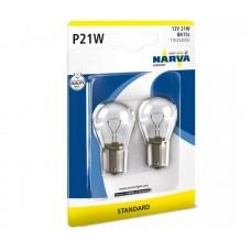 Лампа розжарювання 12V P21W 21W BA15S (К-Т 2ШТ)