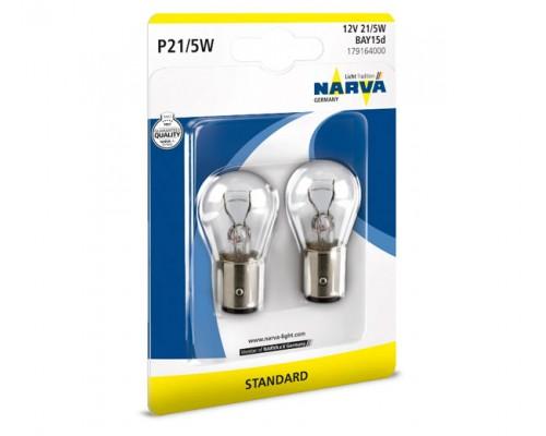 Лампа розжарювання 12V P21/5W 21/5W BAY15D (К-Т 2ШТ)