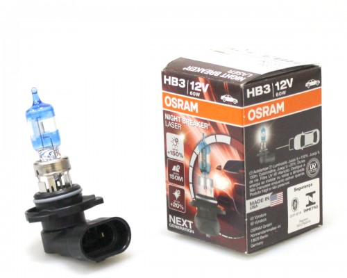 ЛАМПА ГАЛОГЕННАЯ 12V HB3 60W P20D NIGHT BREAKER LASER NEXT GENERATION НА 150% БОЛЬШЕ СВЕТА, ДО 150М ДЛИНЕЕ СВЕТОВОЙ ЛУЧ, КАРТОН