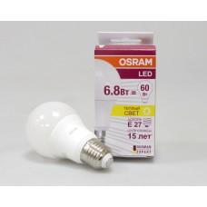 Лампа світлодіодна LED STAR CLASSIC, A60 6.8W/827 230V FR E27, 2700K 600LM МАТОВАЯ, теплий білий світло (4052899971530)