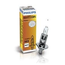 Лампа галогенна 12V H1 55W P14,5S VISION, На 30% більше світла