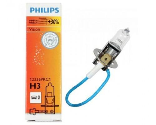Лампа галогенна 12V H3 55W PK22S VISION ,На 30% більше світла