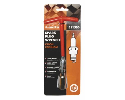 Ключ свічковий з шарніром T-подібний 16 мм, довжина 200 мм LA 511500