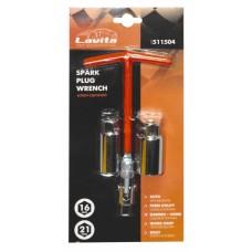 Ключ свічковий з шарніром T-подібний 16 мм 21 мм, довжина 200 мм LA 511504