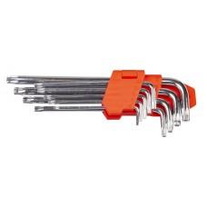 Набір ключів TORX L-образних 9 шт., T10-T50, подовжених LA 511600