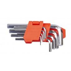 Набір ключів шестигранних L-образних 9 шт., 1.5-10 мм, стандартної довжини LA 511601