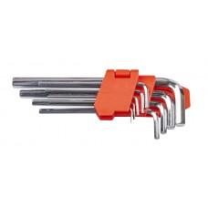 Набір ключів шестигранних L-образних 9 шт., 1.5-10 мм, подовжених LA 511602