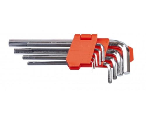 Набор ключей шестигранных L-образных 9 шт., 1.5-10 мм, удлиненных LA 511602