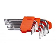 Набір ключів TORX L-образних 9 шт., T10-T45, стандартної довжини LA 511603