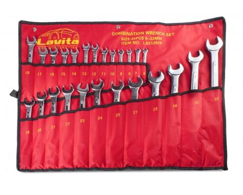 Набір ключів комбінованих в сумці 25 шт., 6-32 мм LA 512925
