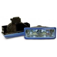 Фара противотуманная 110x40 мм, галогеновая, стекло голубое, 2 шт. LA HY-008B/B