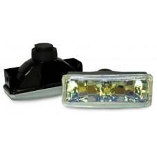 Фара противотуманная 110x40 мм, галогеновая, стекло радужное, 2 шт. LA HY-008B/R