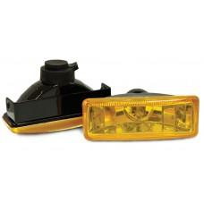 Фара противотуманная 110x40 мм, галогеновая, стекло желтое, 2 шт. LA HY-008B/Y