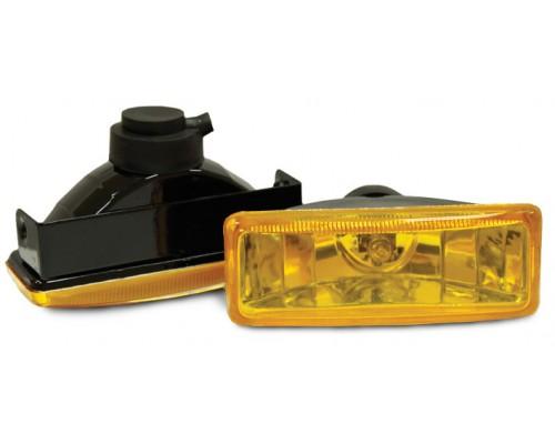 Фара 110x40 мм, галогенова, скло жовте, 2 шт. LA HY-008B / Y