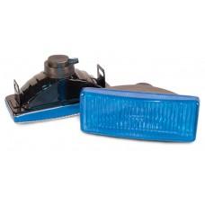 Фара противотуманная 125x45 мм, галогеновая, стекло голубое, 2 шт. LA HY-010C/B