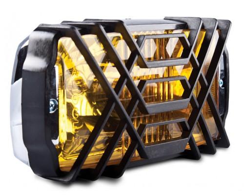 Фара противотуманная 236x130 мм, галогеновая, стекло желтое, 1 шт. LA HY-023C-3/Y
