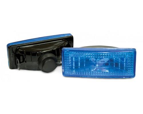 Фара противотуманная 120x50 мм, галогеновая, стекло голубое, 2 шт. LA HY-053B/B