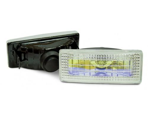 Фара 120x50 мм, галогенова, скло райдужне, 2 шт. LA HY-053B / R
