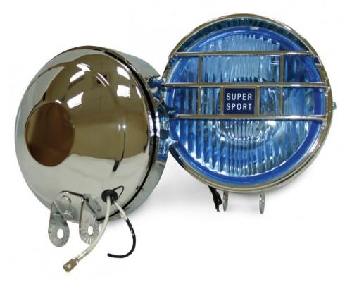 Фара D = 130 мм, галогенова, скло блакитне, 2 шт. LA HY-060 / B
