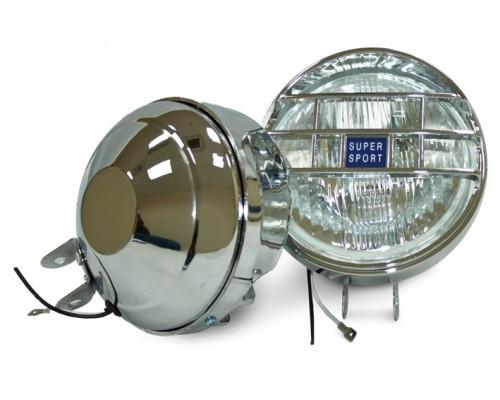 Фара противотуманная D=130_мм, галогеновая, стекло белое, 2 шт. LA HY-060/W
