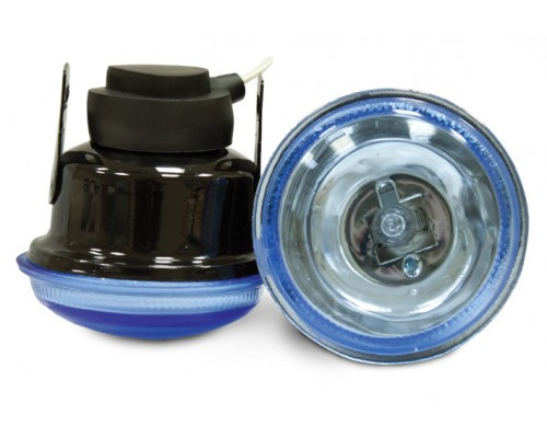 Фара противотуманная D=65 мм, галогеновая, стекло голубое, 2 шт. LA HY-085/B