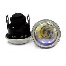 Фара противотуманная D=65 мм, галогеновая, стекло радужное, 2 шт. LA HY-085/R