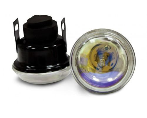 Фара D = 65 мм, галогенова, скло райдужне, 2 шт. LA HY-085 / R