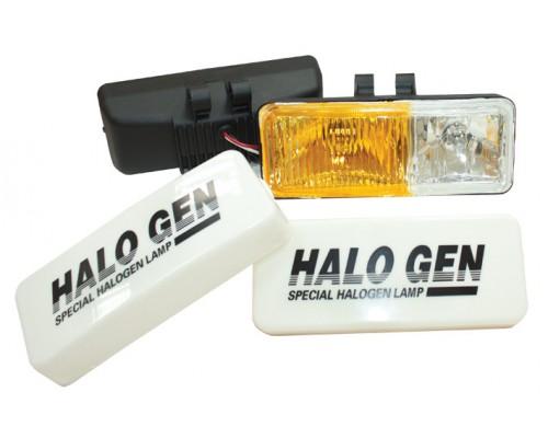 Фара 190x75 мм, галогенова, скло жовто-біле, 2 шт. LA HY-116C / W