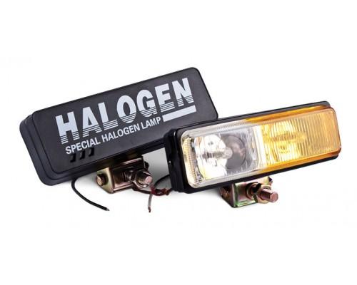 Фара 172x60 мм, галогенова, скло жовто-біле, 2 шт. LA HY-116D-1 / CY