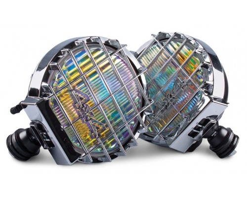 Фара противотуманная D=200 мм, галогеновая, стекло радужно-голубое, 2 шт. LA HY-164/RB
