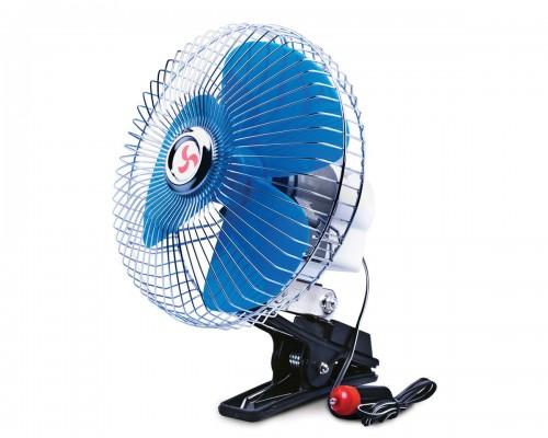 """Вентилятор автомобільний 8 """"(20,3 см), 12 В, решітка метал LA 180203"""