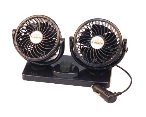 """Вентилятор автомобильный, двойной диаметр 4"""", LA 180206"""