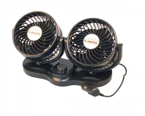 """Вентилятор автомобильный, двойной диаметр 5"""", LA 180207"""