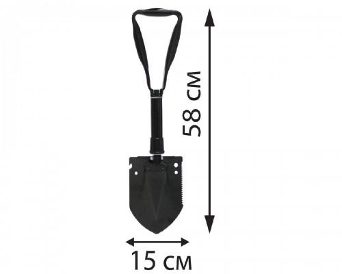Лопата туристическая складная большая + сумка (24-58 см)