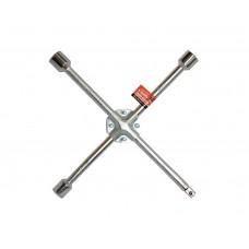 """Ключ баллонный крестообразный усиленный 17x19x21x1/2"""" D=14 мм x 14"""" хромированный LA 511001"""
