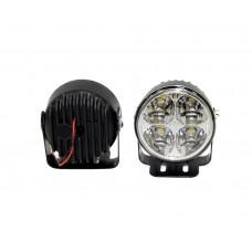 Фара дневного света D=70 мм, пластиковая, LED, 2 шт. LA HY-092-1-P