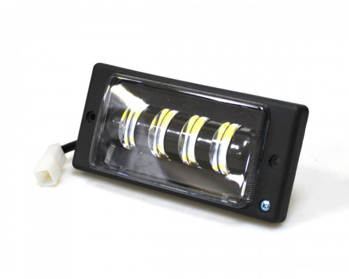 Фара противотуманная, в бампер, LED з лінзою, чорна рамка, LADA 2110