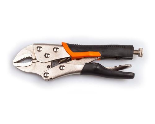 """Кліщі затискні 7 """"(довжина 180 мм), з пластиковими ручками LA RS7180"""