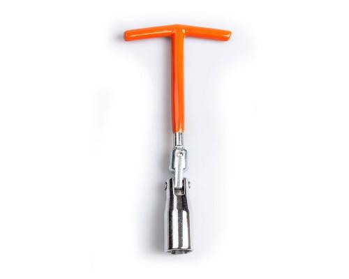 Ключ свічковий з шарніром T-подібний 16 мм, довжина 200 мм, посилений LA SPW016