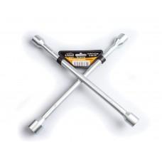 """Ключ баллонный крестообразный 17x19x21x23 мм D=14 мм x 14"""" хромированный LA XO1723"""