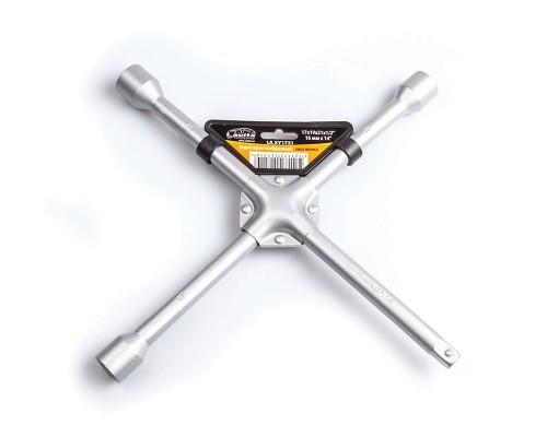 """Ключ балонний хрестоподібний посилений 17x19x21x1 / 2 """"D = 14 мм x 14"""" сірий LA XY1721"""